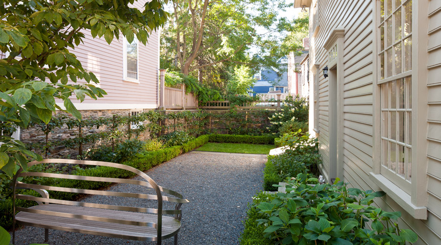 Garden and patio area